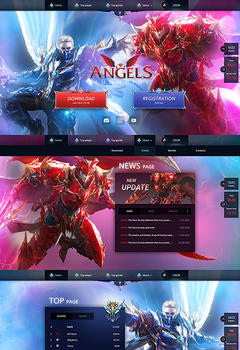 Angels Mu Online Game Website Template