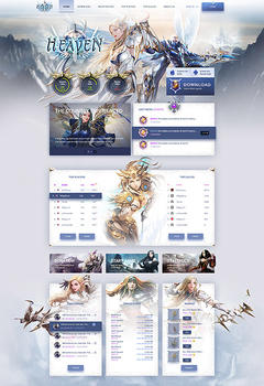 Heaven MU Online Game Website Template
