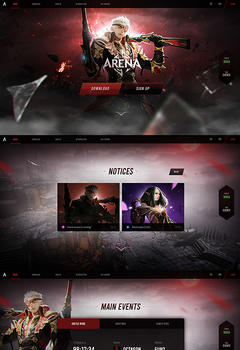 Mu Arena S16 Fullscreen Game Website Template