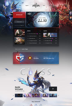 Mu Arena Game Website Template