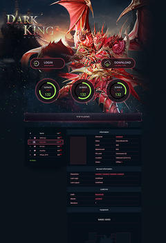 Mu Online Dark King Game Website Template