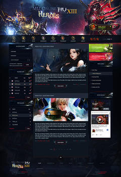 Mu Online Dark Game Website Template