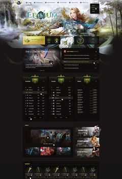 Elysium Mu Game Website Template