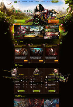 Mu Online Forester Game Website Template