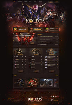 Mu Online Koleos Game Website Template