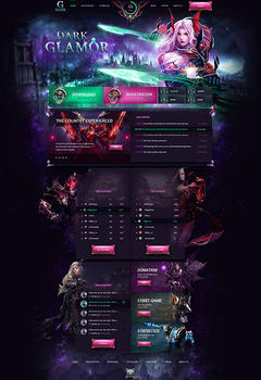 Mu Online Dark Glamor Game Website Template