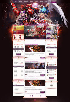Mu Online Red Power Game Website Template