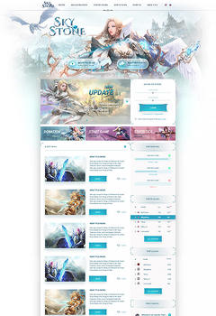 Mu Online SkyStone Game Website Template