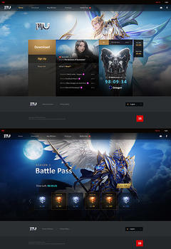 Mu Online Modern Game Website Template